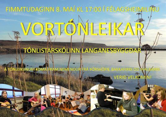 Vortónleikar Tónlistarskóla Langanesbyggðar í Þórsver