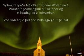 Norðurljósin léku sér dátt og Guðjón Gam náði þessari frábæru mynd af dansi þeirra!